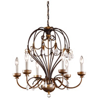 WM 6 Light 22 inch Iron Chandelier Ceiling Light