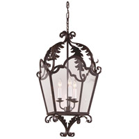 Wildwood Lamps Iron Lantern Hanging Lantern in Hand Wrought Iron 7781