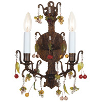Wildwood Lamps With Crystals Sconce in Hand Finished Brass 7789