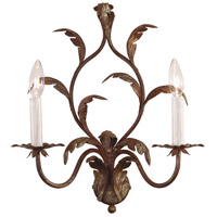 Wildwood Lamps Iron Leaves Sconce in Hand Colored Iron 7790