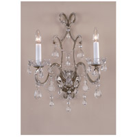 Wildwood Lamps Beaded Crystal Sconce in Antique Silver With Crystal Beads 7791 photo thumbnail