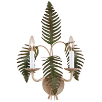 Wildwood Lamps Fern Sconce in Hand Colored Iron 7794