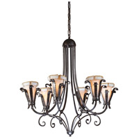 Wildwood Lamps Etruscan Iron Chandelier in Handmade And Finished Iron With 7805