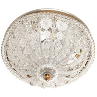 Crystal 3 Light 15 inch Crystal Roping And Drops Flush Mount Ceiling Light