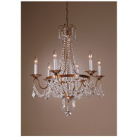 Wildwood Lamps Iron With Crystals Chandelier in Golden Rust Finish On Iron 7807