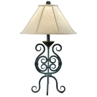 Wildwood Lamps Iron Scrolls Table Lamp in Handmade And Finished 7866 photo thumbnail