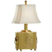 Tea Box 13 inch 40 watt Antique Brass Table Lamp Portable Light