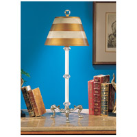 Wildwood Lamps Crystals Stick Table Lamp in Milano Silver With Black Antique 7963