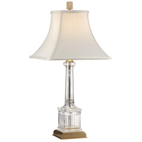 Wildwood Lamps Crystal Column Table Lamp in Mouth Blown Lead Crystal 8046