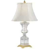 Crystal 33 inch 60 watt 24% Lead Crystal Table Lamp Portable Light