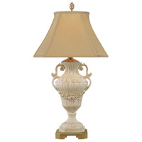 Fruit 34 inch 100 watt Hand Glazed Tuscan Ceramic Table Lamp Portable Light