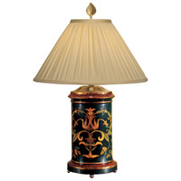 Wildwood Lamps Sworls And Swirls Table Lamp in Hand Painted Acrylic On Wood 8446 photo thumbnail