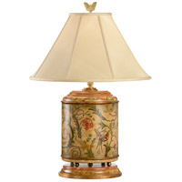 Wildwood Lamps Birds Entwined Table Lamp in Hand Painted Woodware With Antique Patina 8466 photo thumbnail
