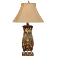 Wildwood Lamps Square Tole Table Lamp in Hand Painted Genuine Tole 8557