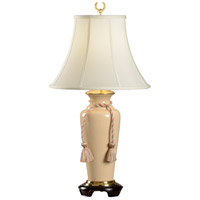 Wildwood 31 inch 100 watt Hand Glazed Wildwood Porcelain Table Lamp Portable Light