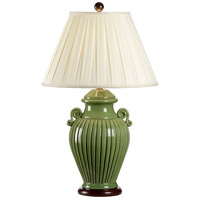 Wildwood Lamps Fluted Jar Table Lamp in Handmade And Glazed Florentine Ceramic 8706 photo thumbnail