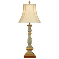 Old Worn 36 inch 100 watt Tuscan Aged Paint With Gold Table Lamp Portable Light