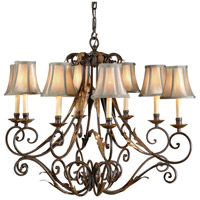Wildwood Lamps Iron Chandelier in Tuscan Rust/Gold Finish 8897