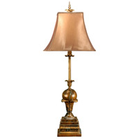 Wildwood Lamps Leaf And Ball Table Lamp in Old World Faux Stone 8937 photo thumbnail