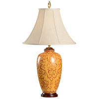 Wildwood Lamps Red On Yellow Table Lamp in Hand Painted Porcelain 8974