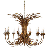 Wildwood Lamps Iron Wheat Chandelier in Hand Finished Wrought Iron 8988 photo thumbnail