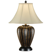 Wildwood Lamps Old Brass Ribs Table Lamp in Hand Finished 8991