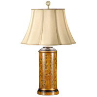 Wildwood Lamps Fancy Cylinder Table Lamp in Hand Painted Wood 9021