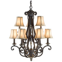 Signature 9 Light 24 inch Old Iron Chandelier Ceiling Light