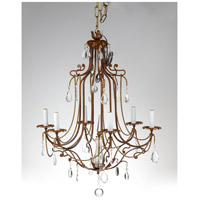Wildwood Lamps Iron With Crystals Chandelier in Hand Made And Finished Iron 9040