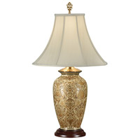 Wildwood Lamps Gold Damask Table Lamp in Hand Painted Porcelain 9044