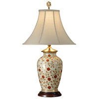 Wildwood Lamps Swirling Buds Table Lamp in Hand Painted Porcelain 9046 photo thumbnail