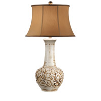 Wildwood Lamps Antique Water Jar Table Lamp in Cream Glaze Earthenware 9079 photo thumbnail