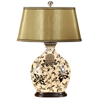 Wildwood Lamps Flowered Snuff Bottle Table Lamp in Hand Painted Porcelain 9162
