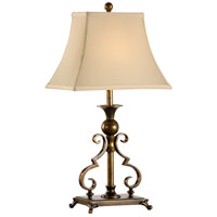 Bracketed 23 inch 60 watt Old Brass Patina Table Lamp Portable Light