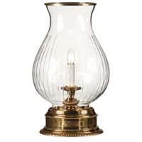 Wildwood Lamps Hurricane Table Lamp in Solid Brass With Antique Patina 9241