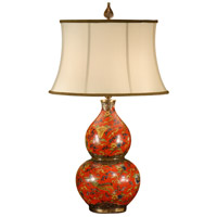 Gourd 29 inch 100 watt Antique Patina On Porcelain Table Lamp Portable Light