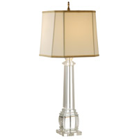 Wildwood Lamps Square Column Crystal Table Lamp in Solid Crystal 9275