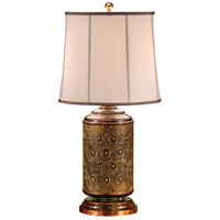 Wildwood Lamps Stars And Diamonds Table Lamp in Hand Carved And Colored Wood 9284 photo thumbnail