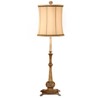 Carved 39 inch 100 watt Hand Carved And Finished Table Lamp Portable Light