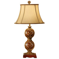 Wildwood Lamps Carved Spheres Table Lamp in Hand Carved And Finished 9294 photo thumbnail