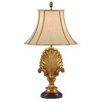 Wildwood Lamps Shell And Scrolls Table Lamp in Hand Carved Acacia Wood 9296