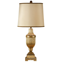 Reeded 34 inch 100 watt Hand Colored Table Lamp Portable Light
