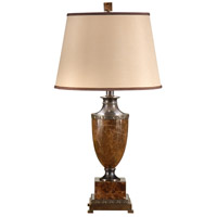 Wildwood 9308 Marble 33 inch 100 watt Antique Bronze Patina Table Lamp Portable Light