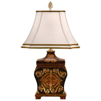 Wildwood Lamps Teabox Table Lamp in Engraved And Hand Painted 9323 photo thumbnail