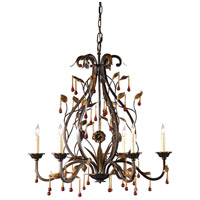 Iron 6 Light 27 inch Chandelier Ceiling Light