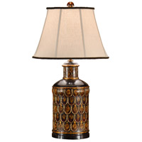 Wildwood Lamps 9328 Tea Box 29 inch 100 watt Hand Carved And Colored Table Lamp Portable Light photo thumbnail