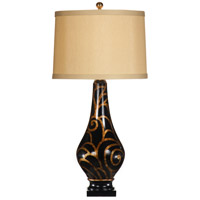 Wildwood Lamps Swirls And Bridges Table Lamp in Hand Painted Lacquer On Porcelain 9333 photo thumbnail
