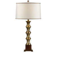 Wildwood Lamps Brass Spindles Table Lamp in Antique Patina On Brass 9338