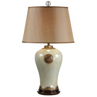 Wildwood Lamps Medallion Crackle Table Lamp in Brass Filigree Ormolu-Antique Patina 9355 photo thumbnail