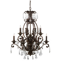 Wildwood Lamps Signature Chandelier in Iron With Crystal Drops 9357 photo thumbnail